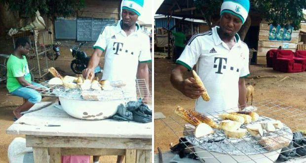 Meet the former Ghana Premier League Star who roasts corn for a living