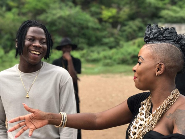 PHOTOS: Stonebwoy completes video shoots with Mr. G, Fay Ann Lyons, Khalia in Jamaica