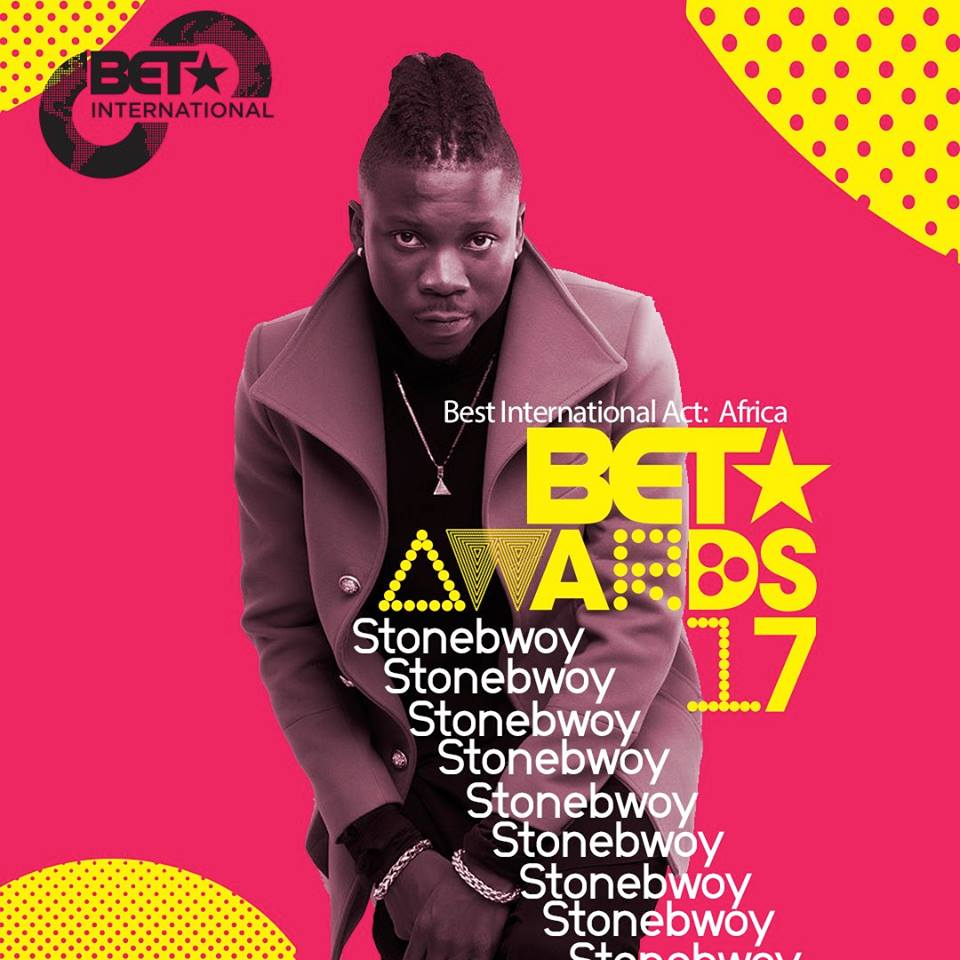 Stonebwoy nominated for BET 2017 Best African Act