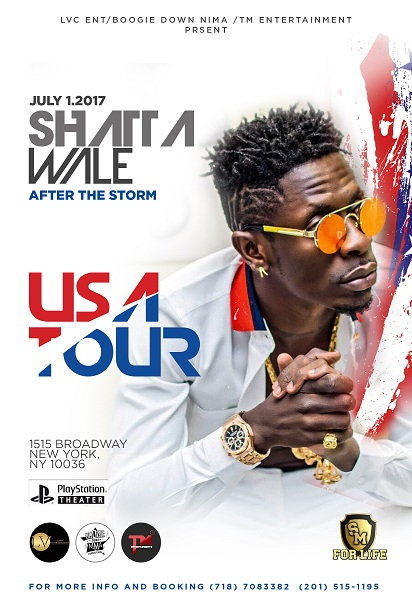Shatta Wale's 'After The Storm' Album Tour in America Begins In July