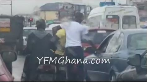 WATCH: Ghanaian actor Fights Driver in Traffic
