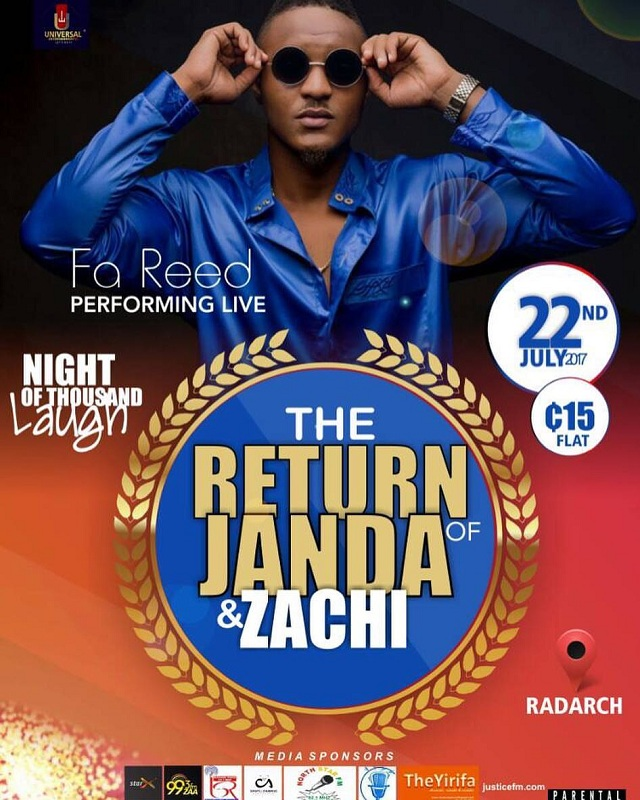 FaReed set to perform at 'The Return Of Janda & Zachi' Show on July 22