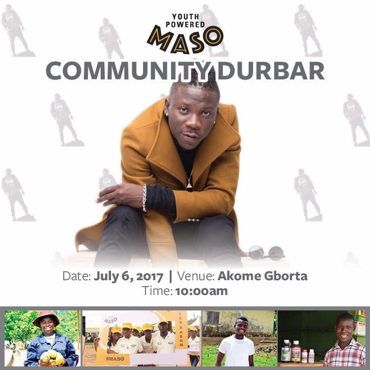 MASO Brand Ambassador, Stonebwoy, to interact with cocoa growing communities in the Volta Region