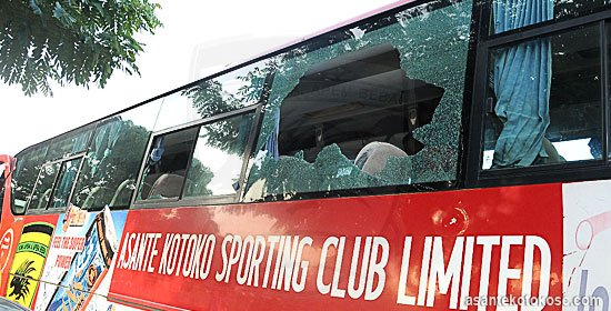 Kotoko team bus involved in accident