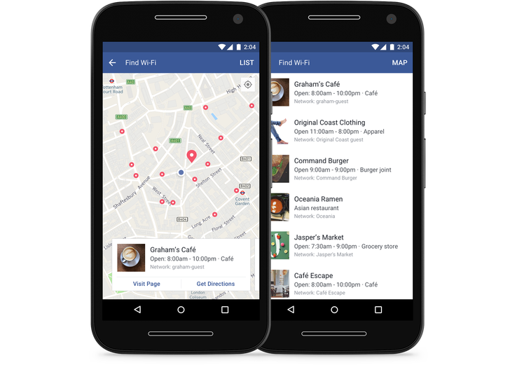 Facebook is rolling out its 'Find Wi-Fi' feature worldwide