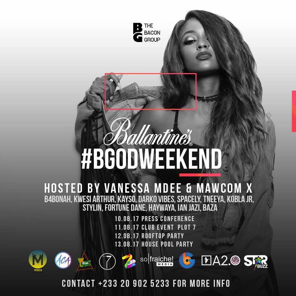 Vanessa Mdee and Mawcom to host Ballantine's #BGodWeekend