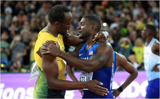 Usain Bolt beaten in last solo race as drug cheat Justin Gatlin gatecrashes world 100m final