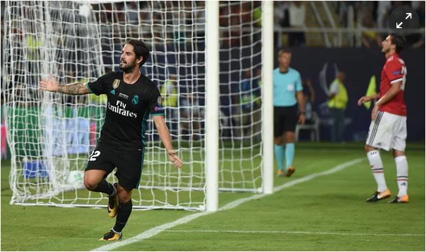Isco goal gives Real Madrid victory over Manchester United in Super Cup
