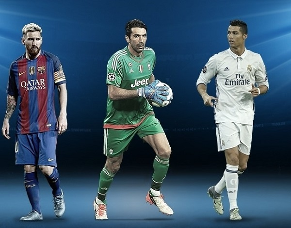 Buffon, Messi and Ronaldo shortlisted for UEFA Player of the Year
