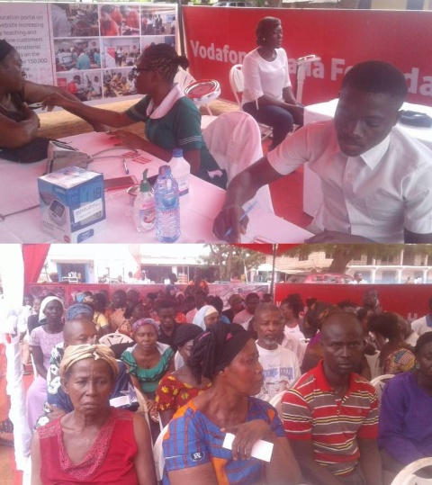 Vodafone Foundation Ghana organises health screening for Berekum residents