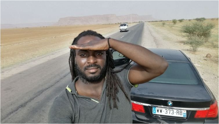 Man's epic 4,900-mile road trip from Paris to Accra