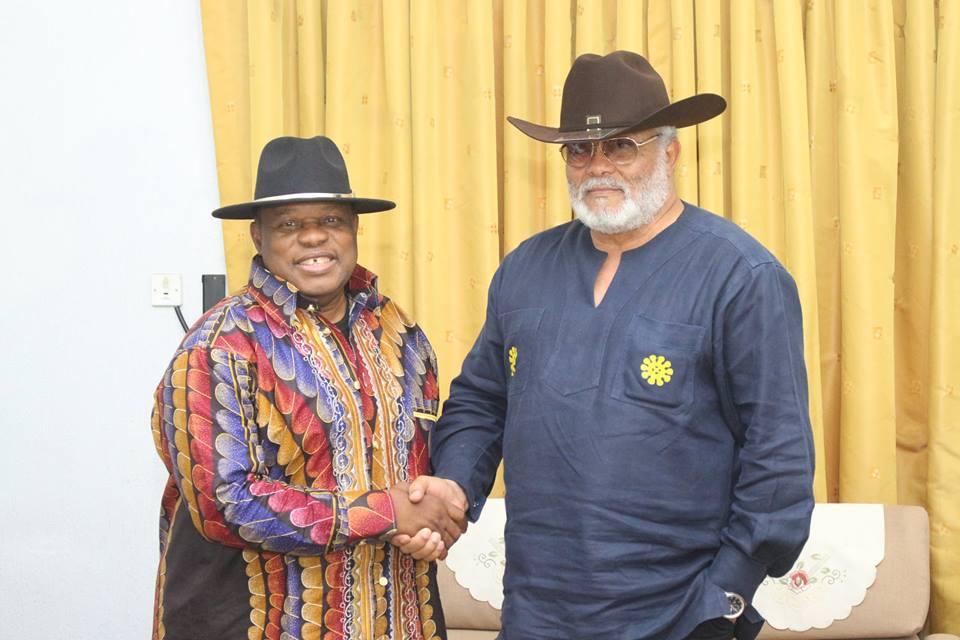 Rawlings Receives Kanda Bongo Man