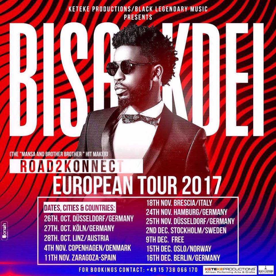 Bisa Kdei kicks off Europe tour