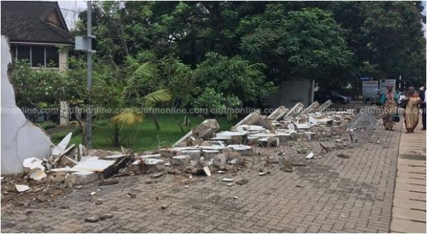 Wall of Rawlings' Ridge residence toppled after downpour