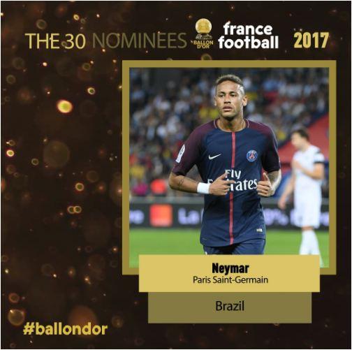 Ballon D'or 2017: Neymar, Dybala & Kante among Nominees