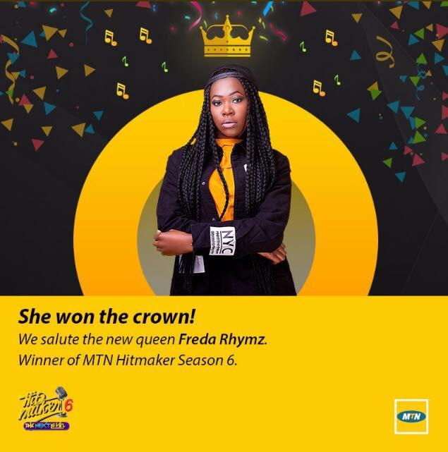 Freda makes history as winner of MTN Hitmaker