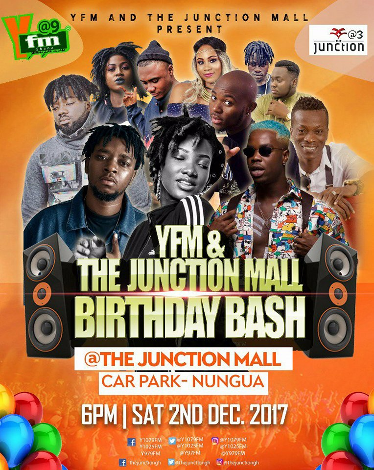 Ebony, Captain Planet, KK Fosu, King Promise Others to Rock YFM Junction Mall Birthday Bash