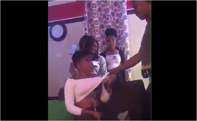 """Ghanaian Girl Slapped For Trying To Steal """"Crazy"""" Girl's  Boyfriend"""