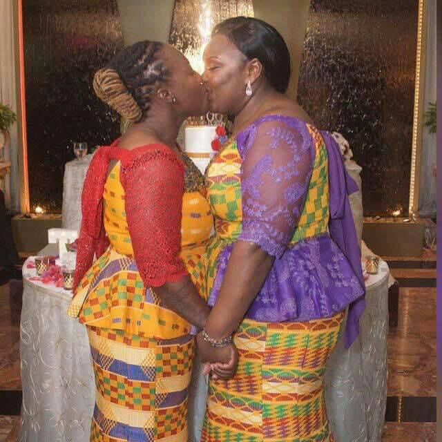 Lesbians Get Married Wearing Kente (Photos)