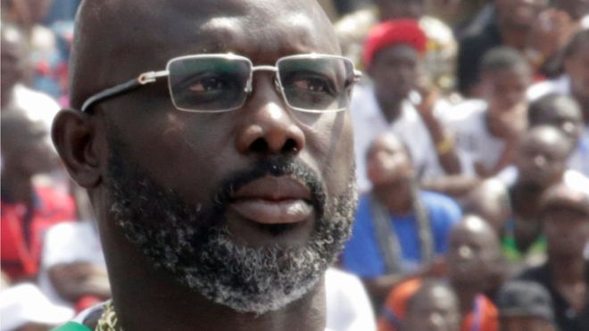 George Weah sworn in as Liberia's president