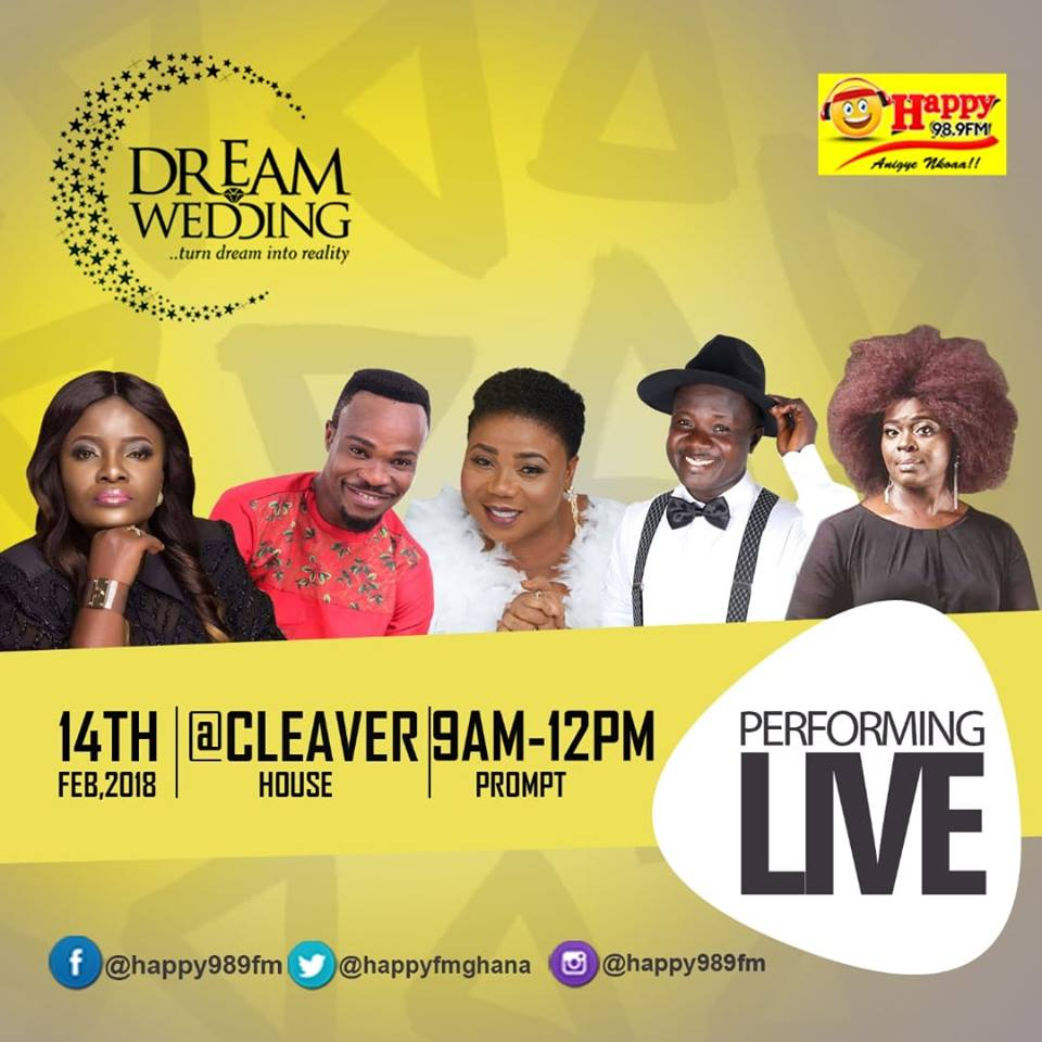 Ohemaa Mercy, Abena Serwah Ophelia, Others to Rock Happy FM Dream Wedding