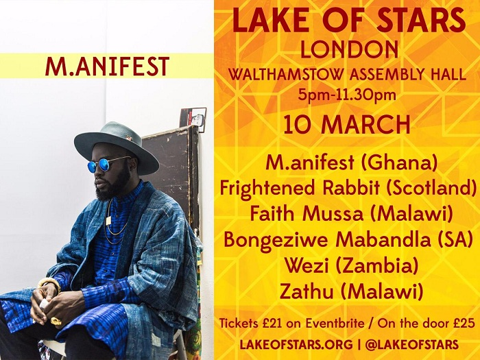 Ghanaian rapper M.anifest is set to hit the shores of the UK for two headlining performances