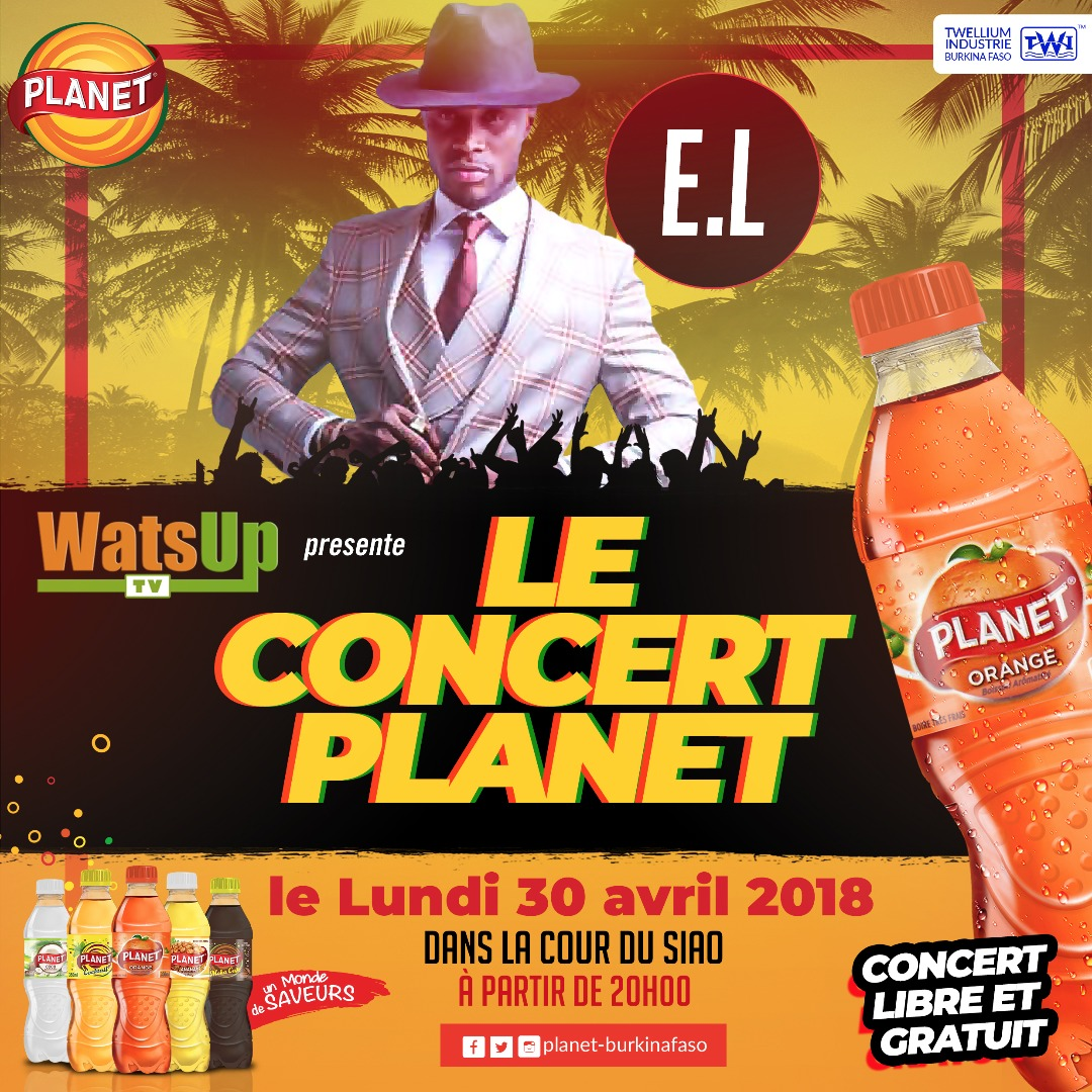 "E.L Headlining at WatsUp TV ""Le Concert Planet "" also performing Iba One, Epixode and Floby in Ouagadougou, Burkina Faso"