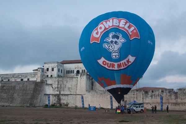 Cowbell flies first hot air balloon in Ghana