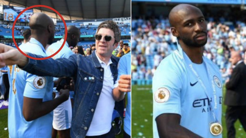 Eliaquim Mangala Sneaks Into Title Celebrations And Collects His Medal, Despite Being On Loan At Everton