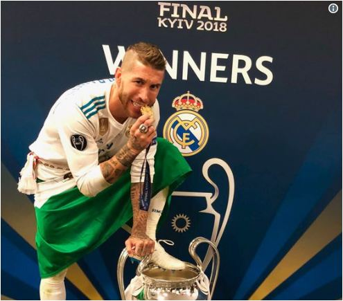 Sergio Ramos Sends Message To Mohamed Salah After Injuring Him In Champions League Final