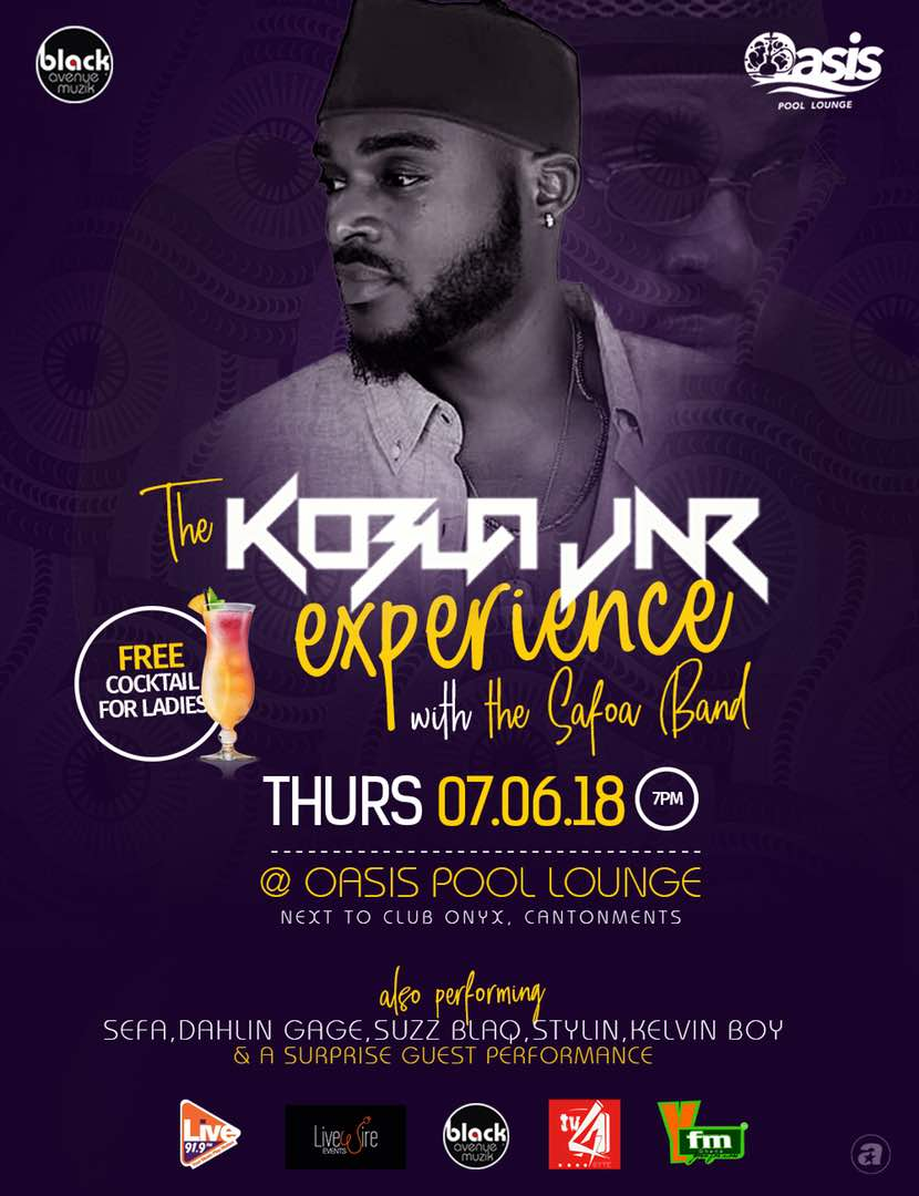 The Kobla Jnr Experience set to thrill patrons at the Oasis Pool and Shisha Lounge on Thursday