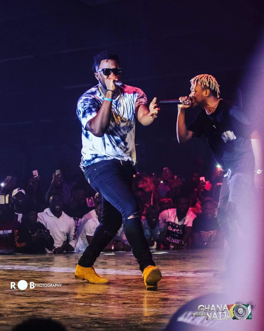 Dice Ailes brings out Medikal, Kwesi ARTHUR for Vision DJ's Otedola Ghana remix at #GhanaMeetsNaija18