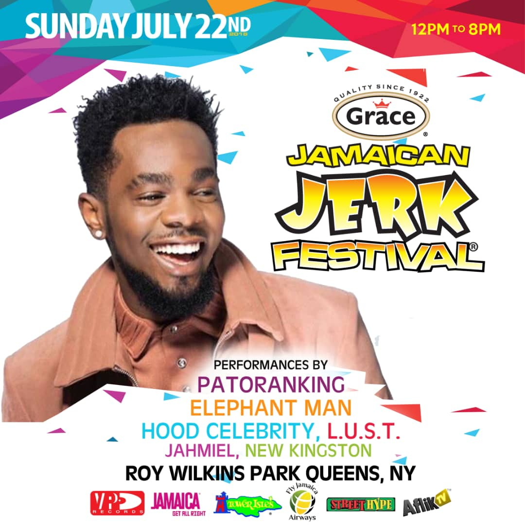 Patoranking to perform at Grace Jerk Festival New York in partnership with Aflik TV