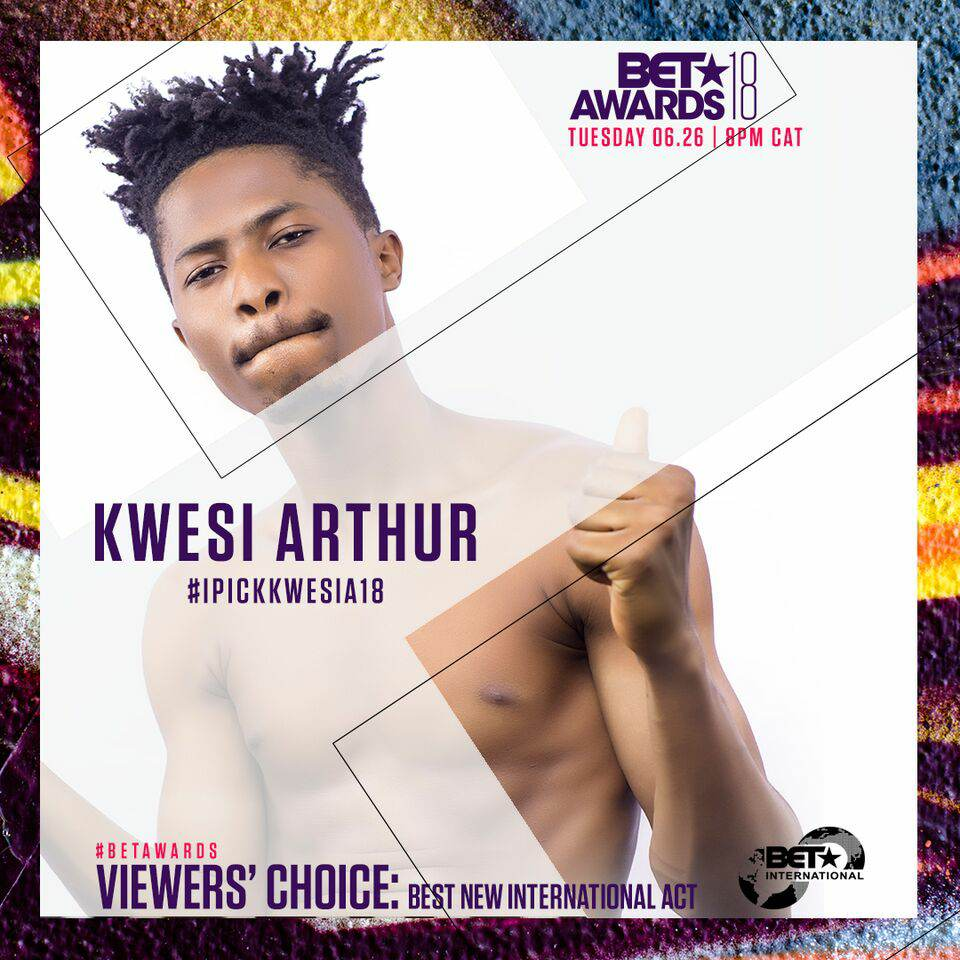 Kwesi Arthur nominated for BET Awards - Viewers' Choice: Best New International Act category