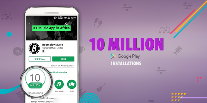 Africa's fastest growing music streaming and download platform Boomplay Reaches 10 Million Installations