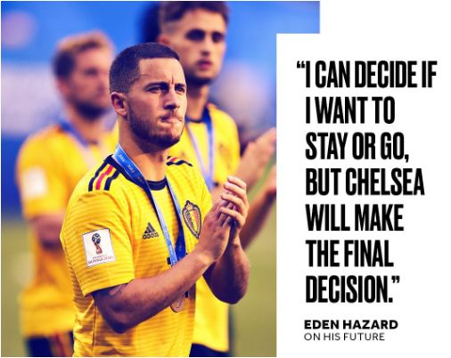 Eden Hazard: Chelsea forward says it 'might be time for something different'