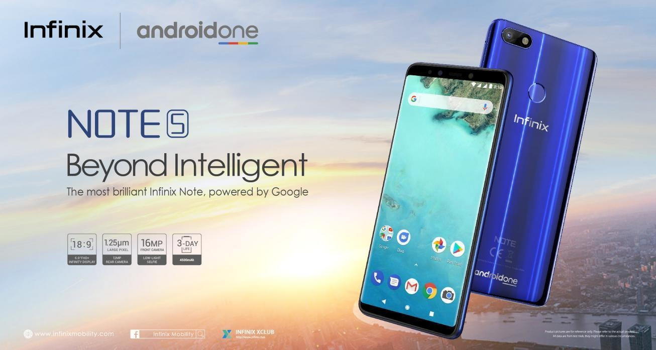 Infinix unveils the latest AI Device, Note 5 Powered by Android One