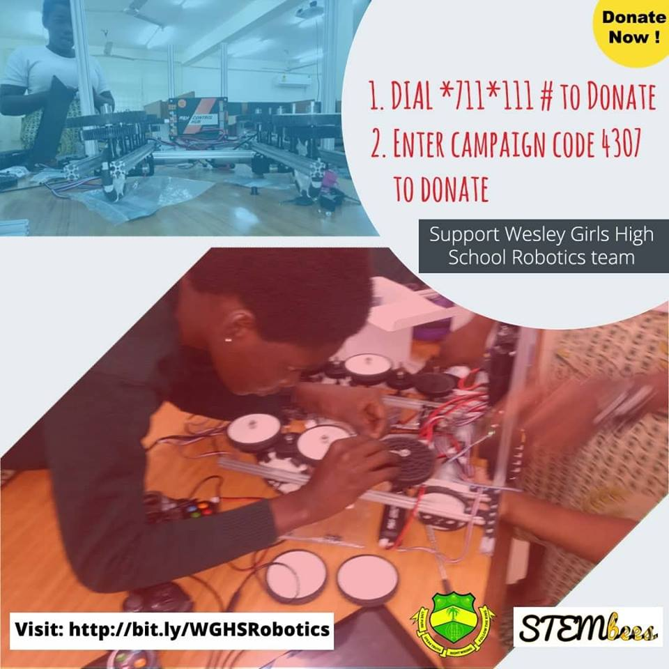 WGHS Robotics team to represent Ghana at the 2018 FIRST Global Robotics Challenge in Mexico