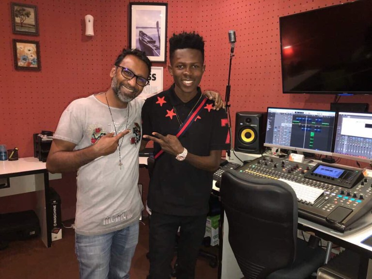 Photos: Strongman Hits The Studio On His Dubai Visit
