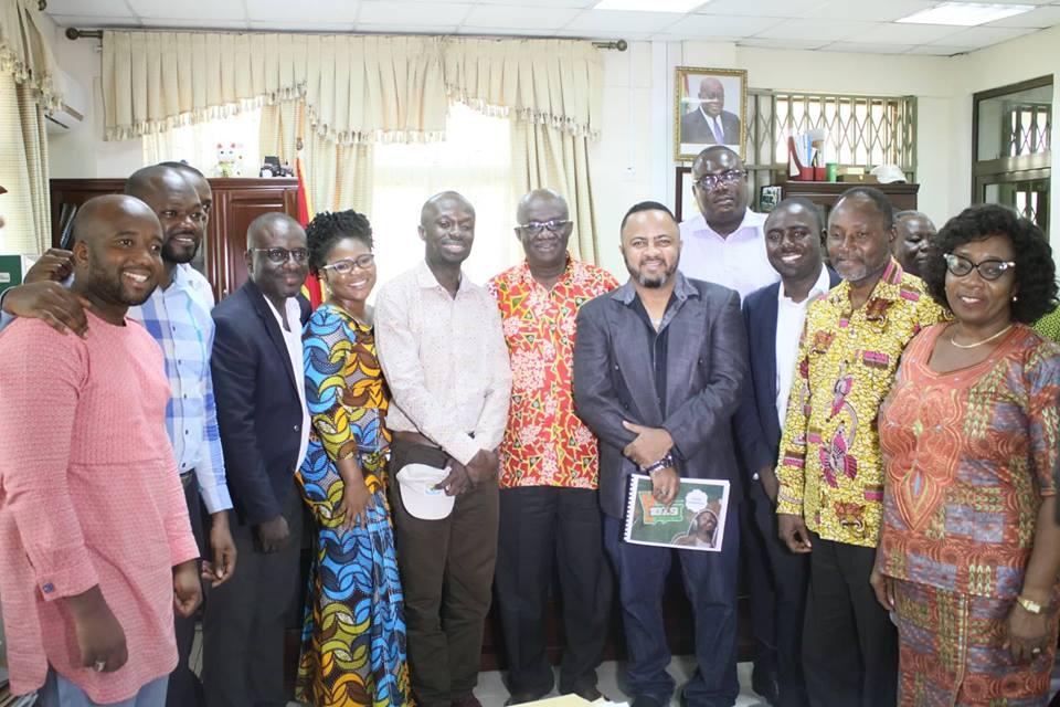YFM pays courtesy call on minister for Sanitation and Water Resources Hon. Joseph Kofi Adda
