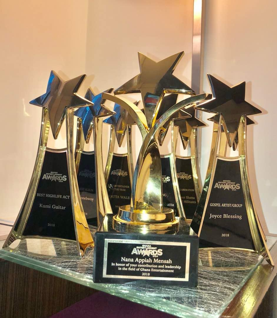 Zylofon's Nana Appiah, Shatta Wale, Stonebwoy, Kumi Guitar & Joyce Blessing Win Big @ GEA In The USA