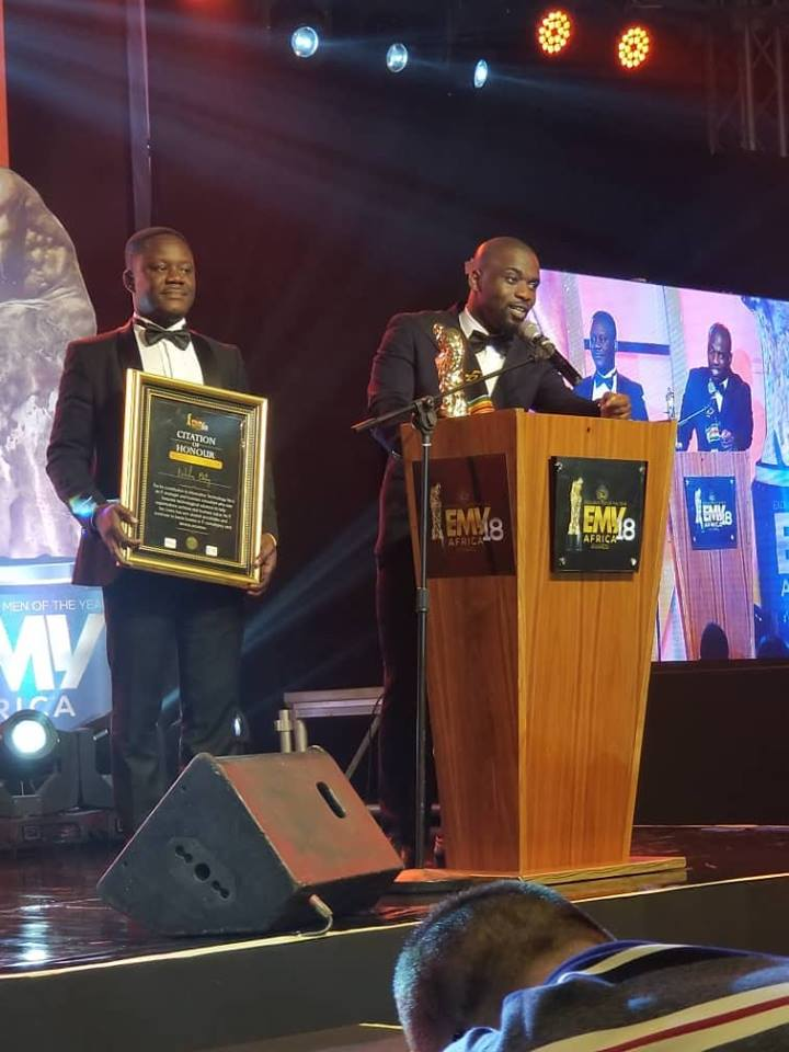 Liranz Ceo Nicholas Bortey Wins Man Of The Year Info Technology At The 3rd EMY Africa Awards 2018