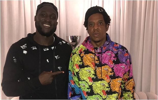 Romelu Lukaku spends time backstage with Jay-Z and DJ Khaled after show in New Jersey