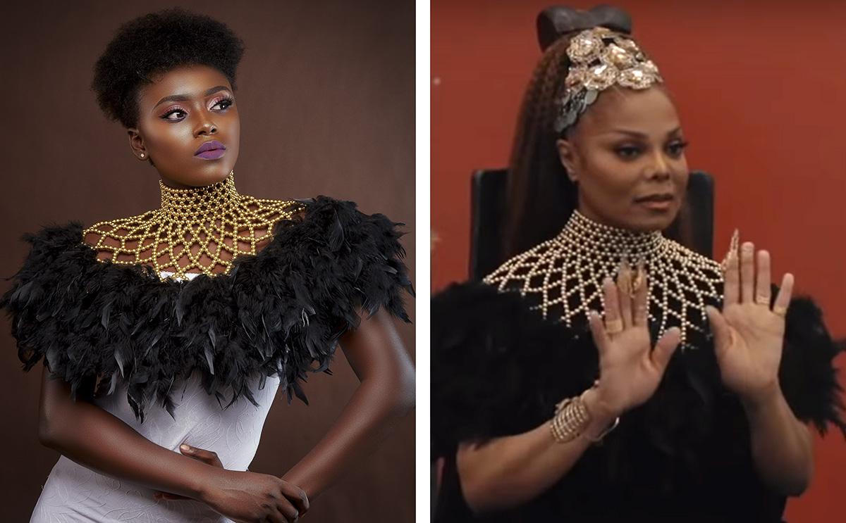 Janet Jackson Remembers Brother Michael Jackson In Ghanaian Designer Brand, Aphia Sakyi