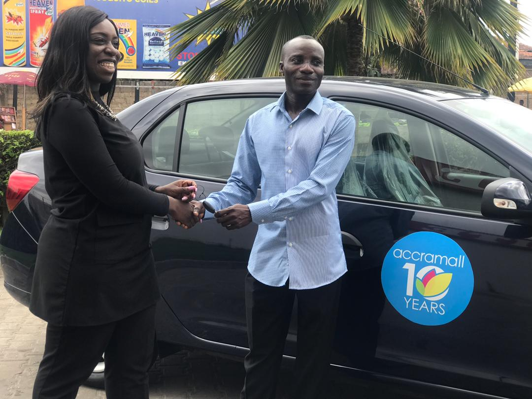 Accra Mall hands over Brand New Renault Logan to Promo Winner