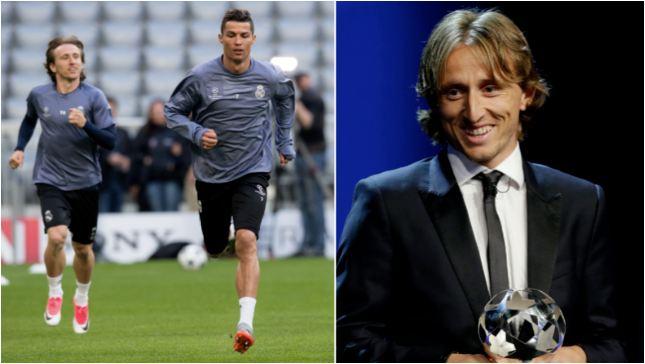 The Message Cristiano Ronaldo Sent To Luka Modric After Winning POTY Award