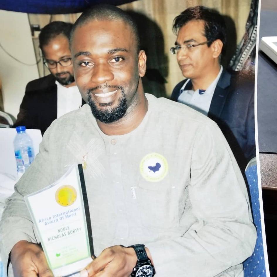 Noble Nicholas Bortey Honored With Africa International Award Of Merit 2018