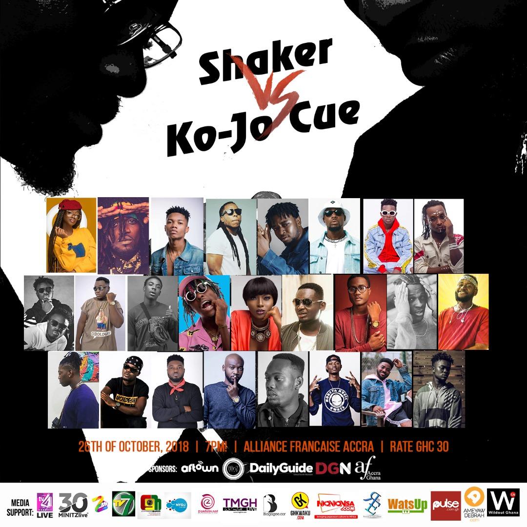 Edem, KiDi, Donzy, others billed for 'Shaker vs Ko-Jo Cue' concert