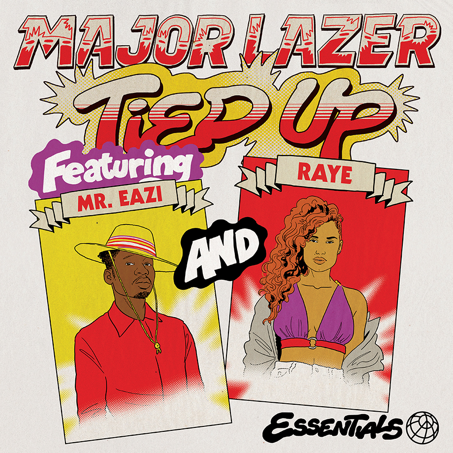 "Watch: Major Lazer debuts video for ""Tied Up""  featuring Mr. Eazi and Raye"