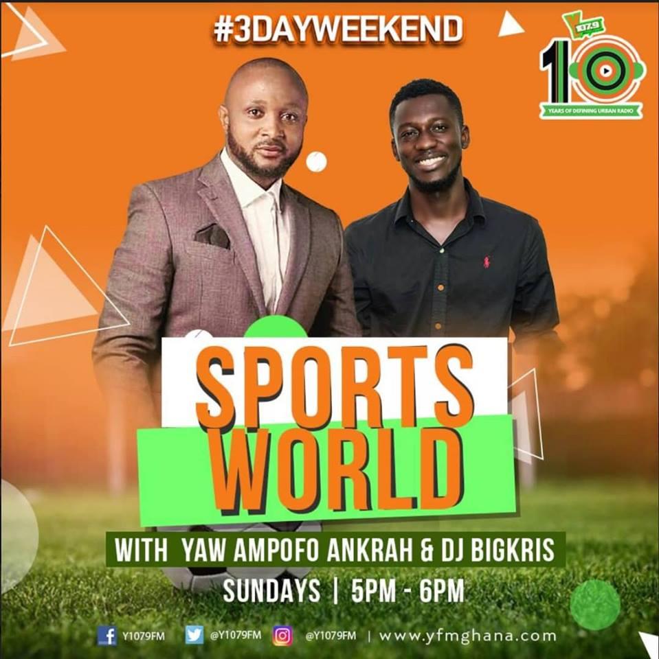Yaw Ampofo Ankrah hits the airwaves with Sports World on YFM